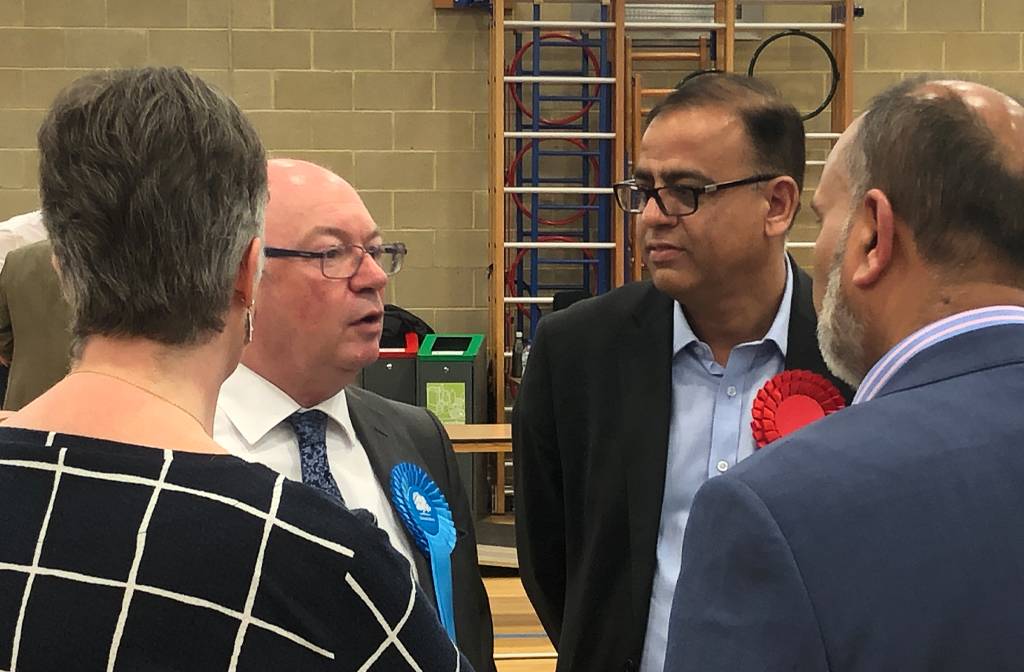 alistair burt and mohammad yasin local election count 2019