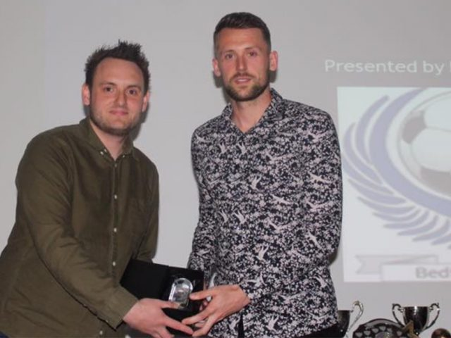 (l-r) Prolific goal scorer Dan Walker and club secretary James Smiles