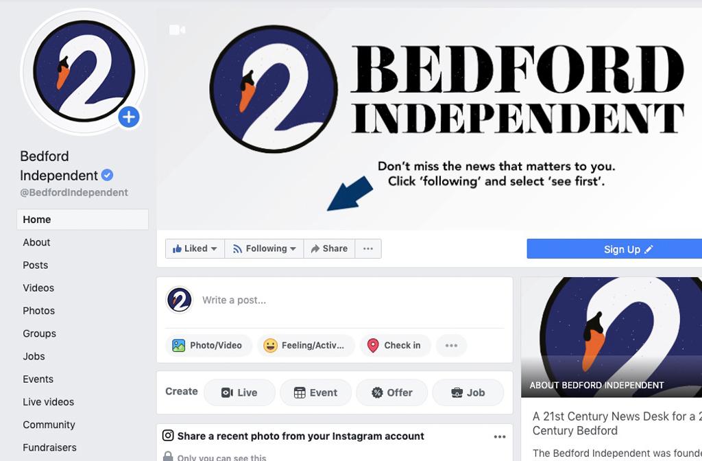 Bedford Independent Blue Tick