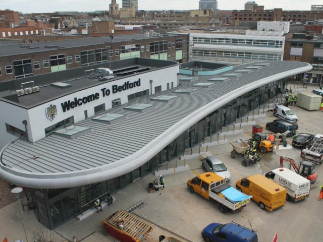 Bedford bus station under construction 2015