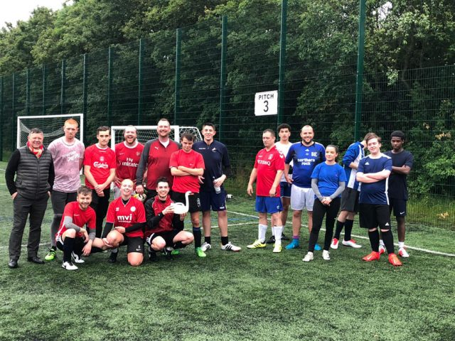 Hotel football match Bedford Swan and The Barns 2019