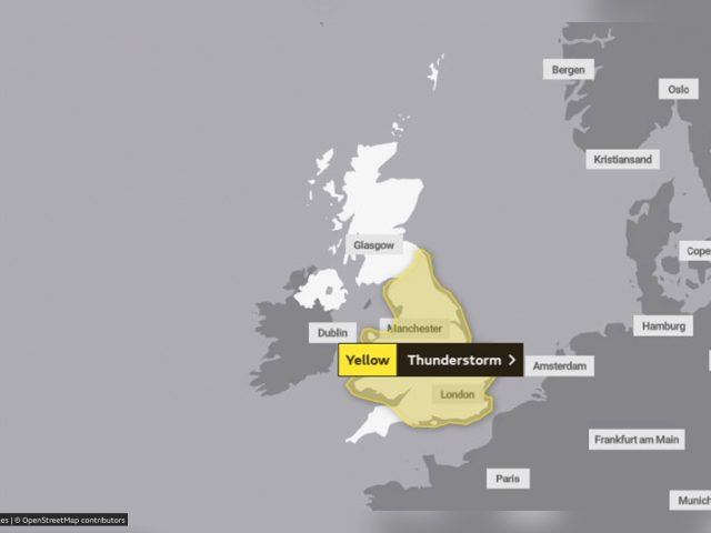 Yellow weather warning 25 to 26 June 2019