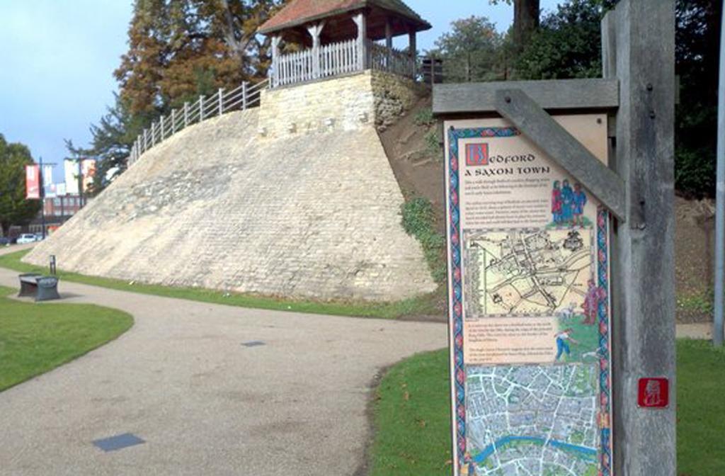 Castle Mound Saxon sign