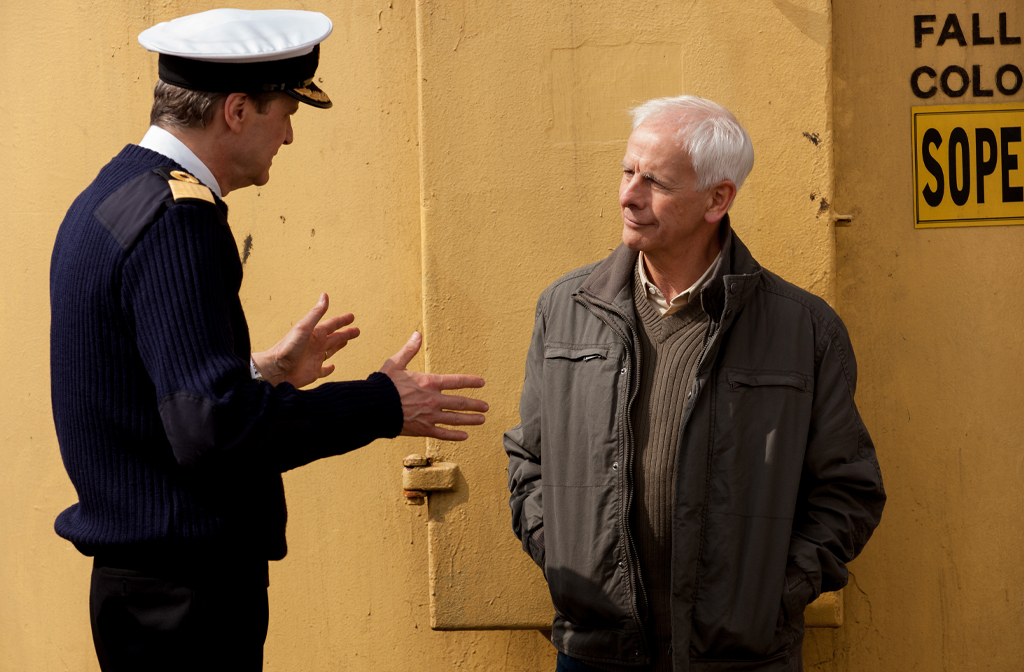 David Russell on set with Colin Firth