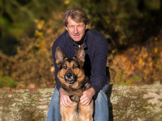 PC Clive Warncken and former police dog Nero