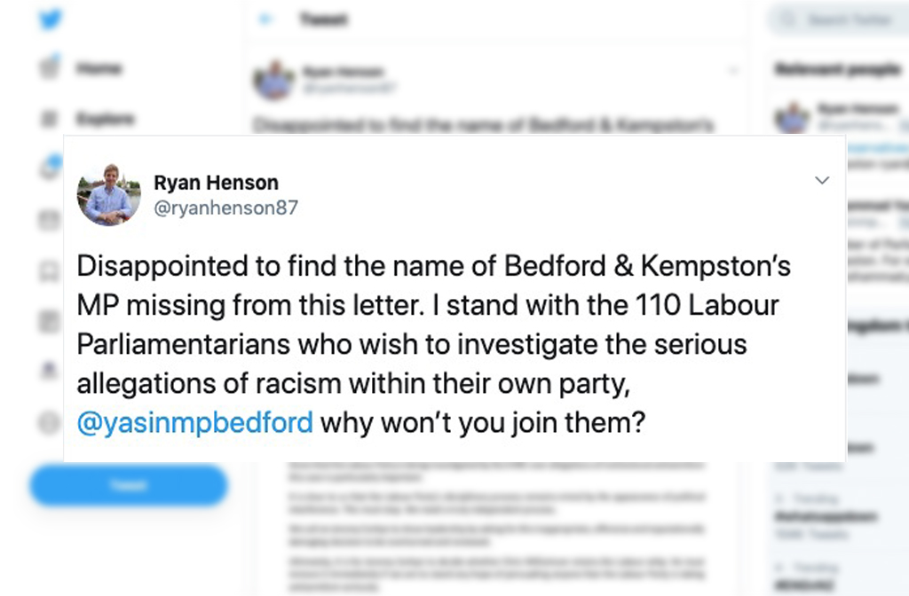 Ryan Henson - Chris Williamson tweet