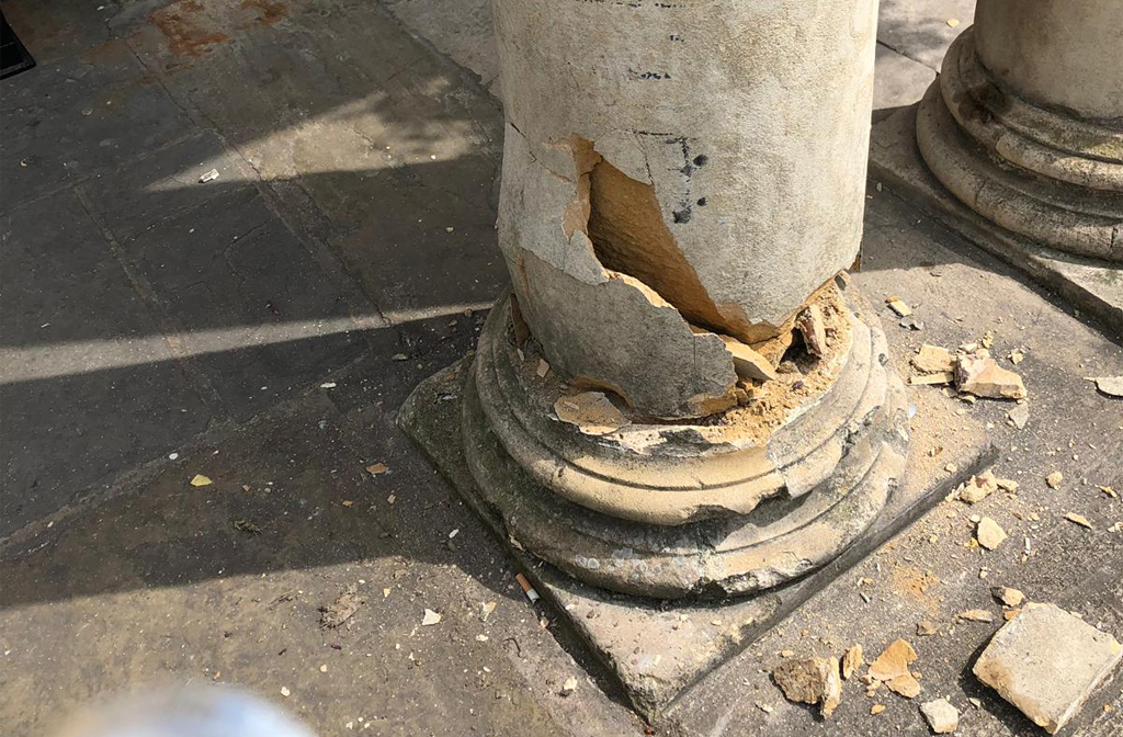 Swan Column Damage 11 July 3