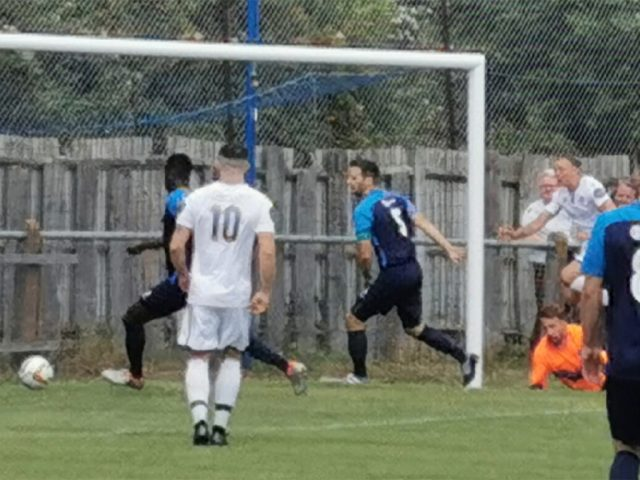Tre Mitford scores Bedford v Arlesey Town 20 July