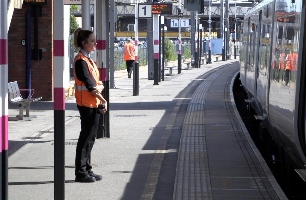Platform staff are always on hand to help.