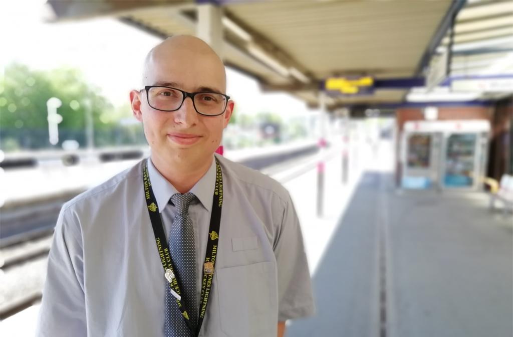 Bedford Station staff Adrian Weeden