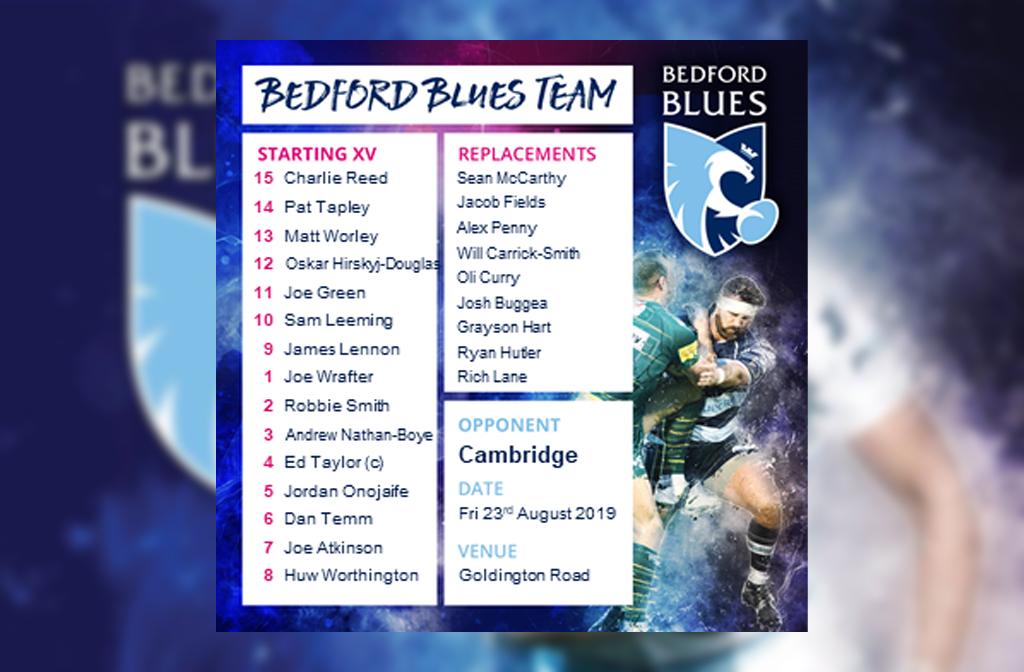 Blues squad v cambridge psf 2019