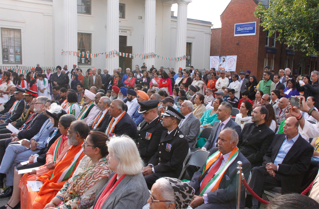 Crowd at Bedford Indian Independence day celebrations 2019