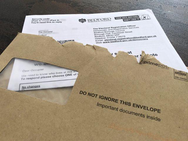 Electoral Registration notice