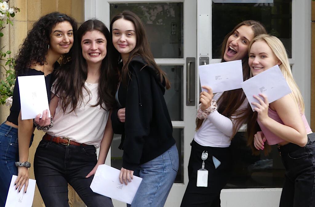 Bedford Girls' School celebrate their success