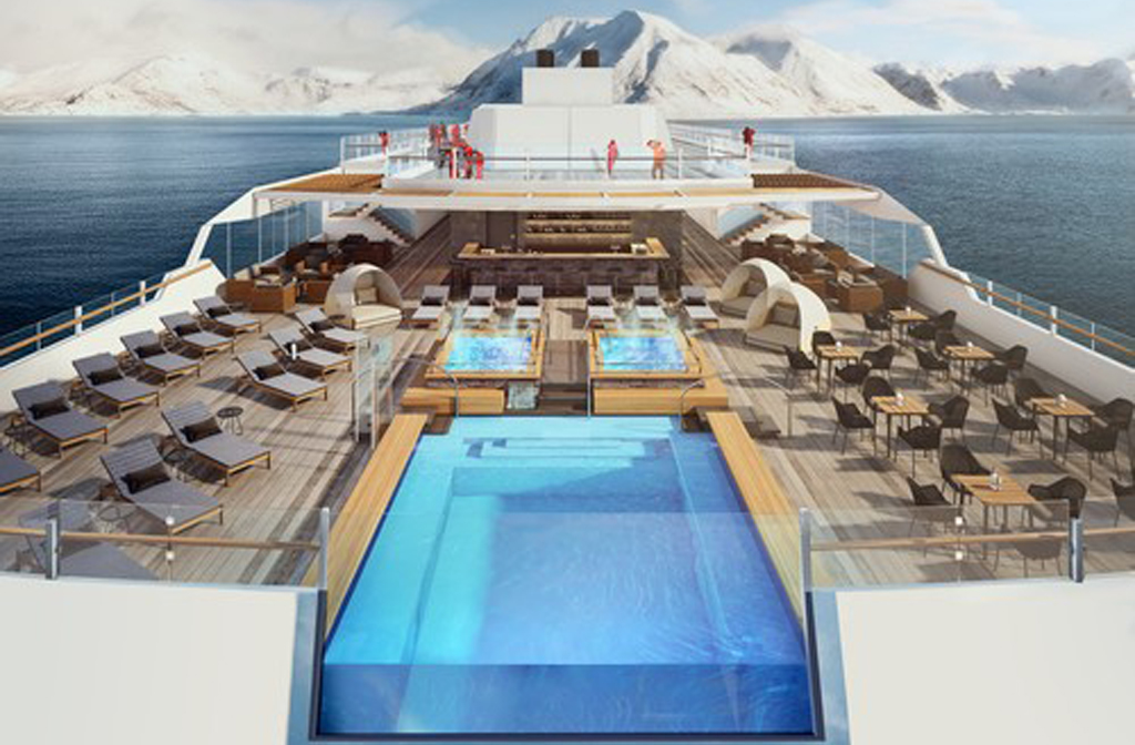 MS Roald Amundsen Top Deck Eagle Travel