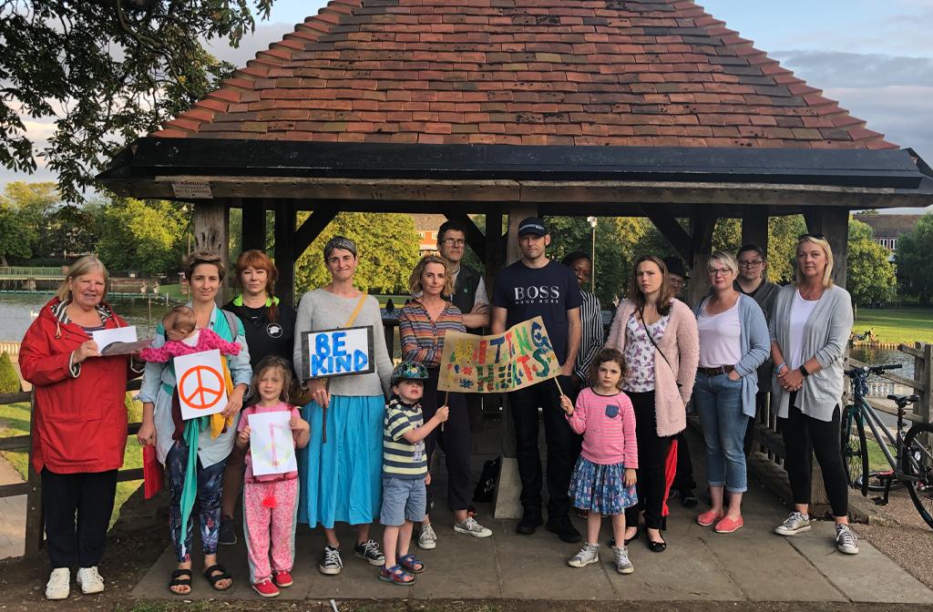 Silent Protest Castle Mound 31 July