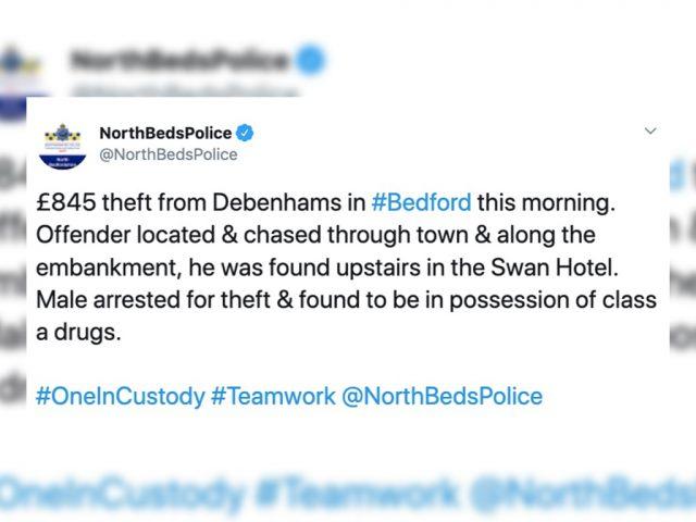 Theft Debenhams 1st August