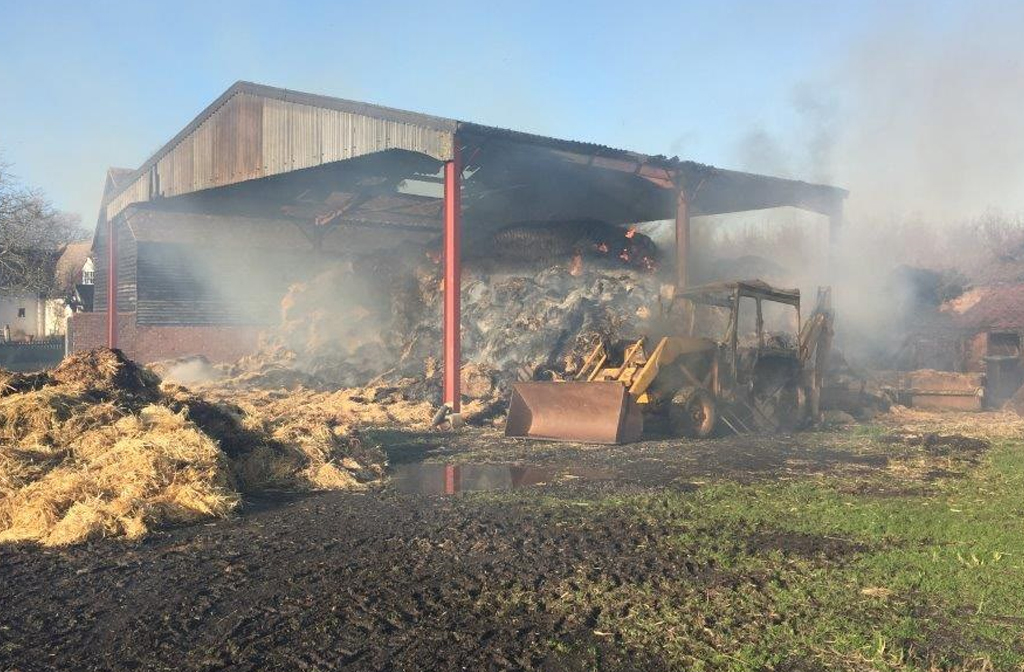 Wood End Farm Arson damage 2019