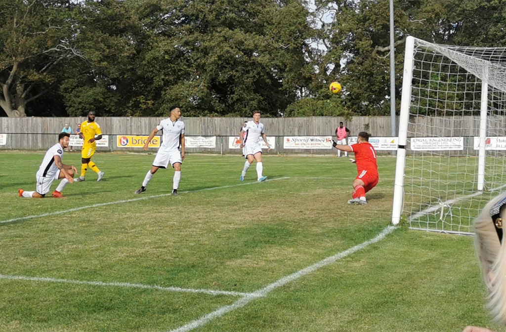 Joe Steele gets Bedford's second against North Leigh