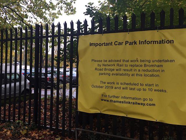 Bedford station car park