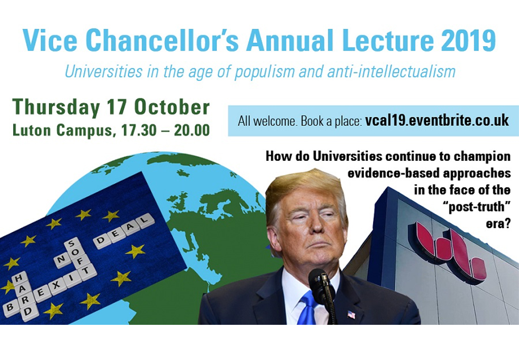 University of Bedfordshire vice chancellor annual lecture