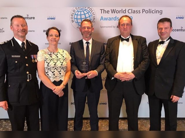 Deputy Chief Constable Trevor Rodenhurst and Op Polarity winners