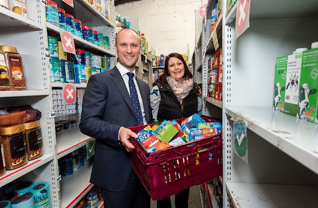 Bedford Foodbank Receives World Kindness Day Donation From