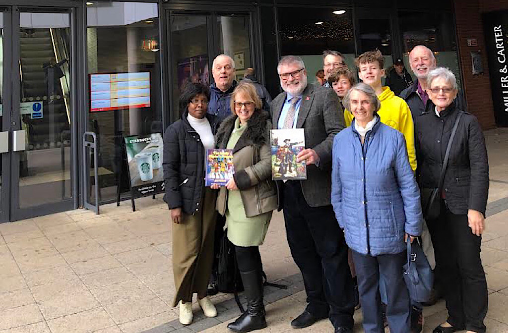 John Bunyan campaigners and the Mayor at VUE Bedford