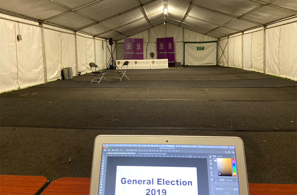 General Election 2019 media tent