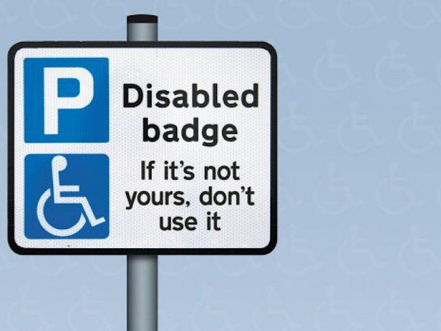 blue badge, disabled parking