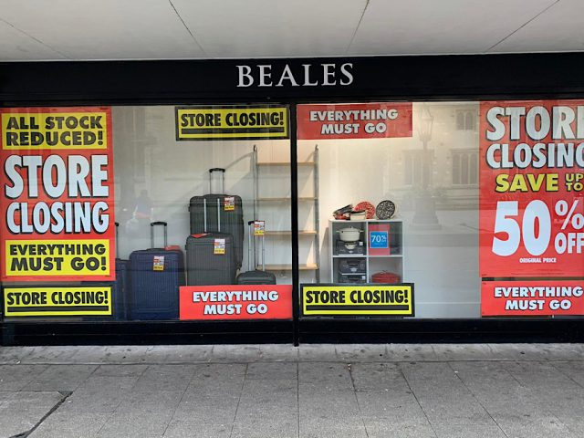 Beales closing down sale