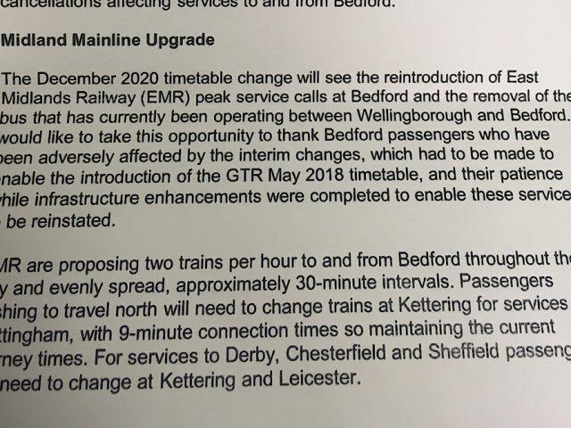 Rail Minister letter