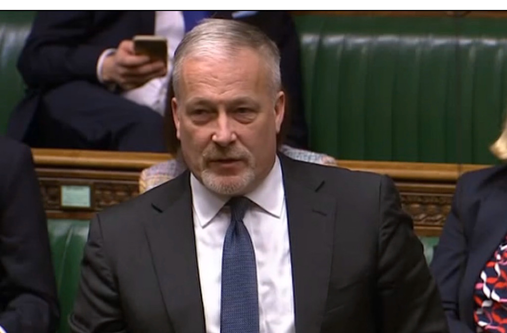 Richard Fuller MP speaking in Parliament