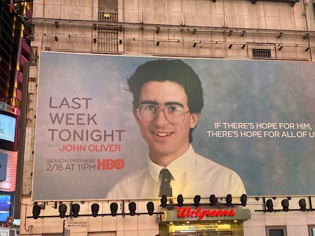 John Oliver in Times Square