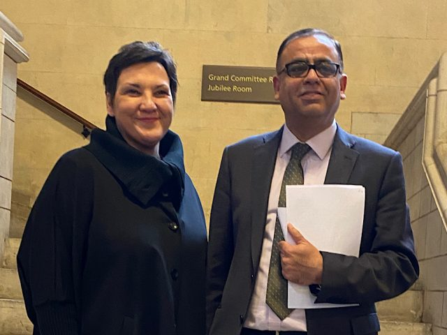 Mohammad Yasin MP with Tonia Antoniazzi