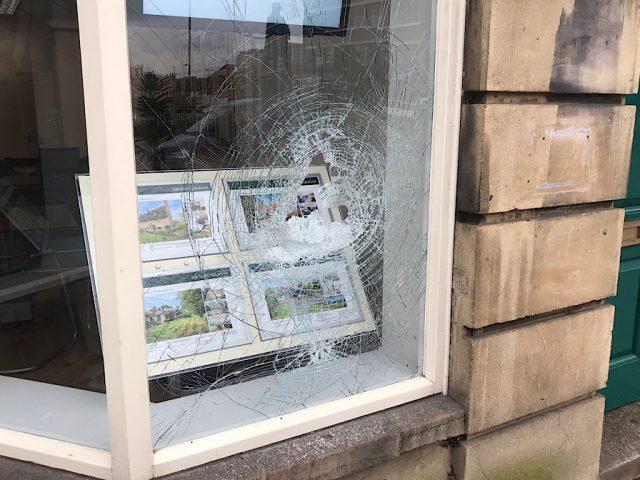 Vandalism estate agents