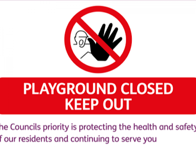 play areas closed