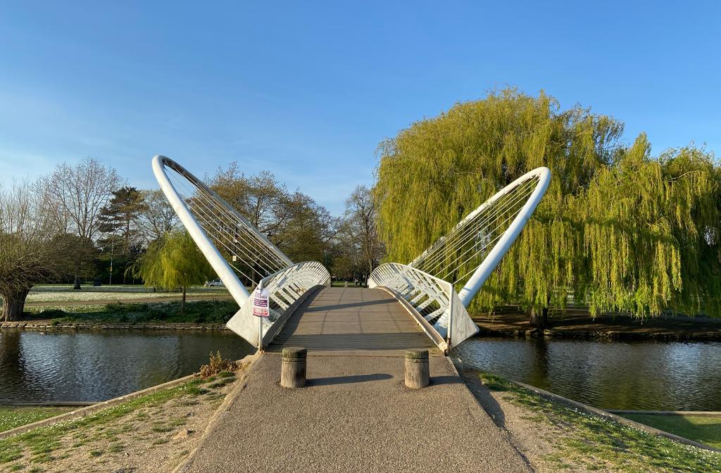 Butterfly Bridge, The Embankment, Bedford