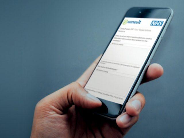 NHS online consultation