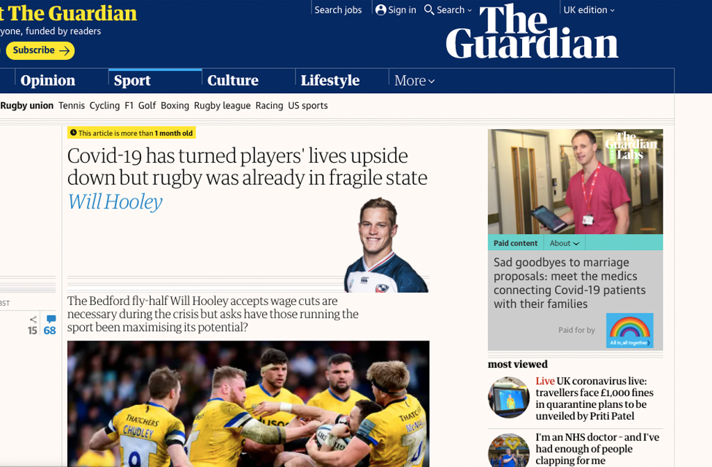 Will Hooley The Guardian