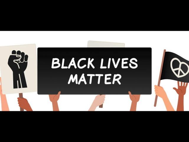 Black Lives Matter protest banner