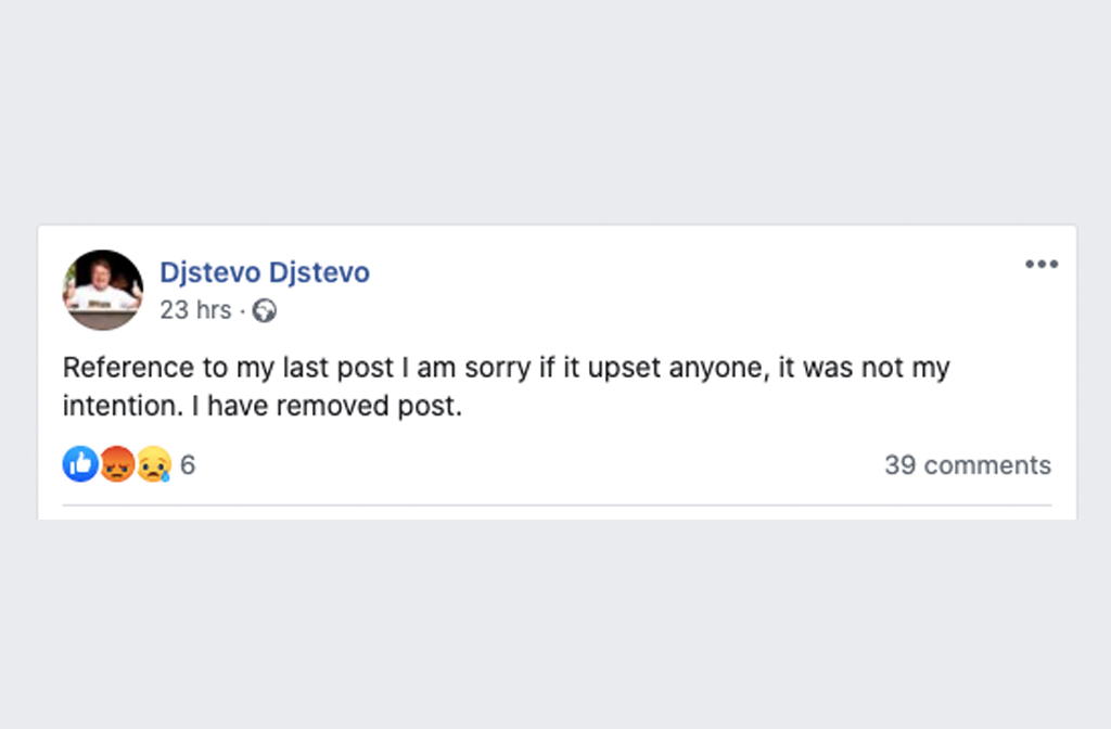 DJ Stevo apology