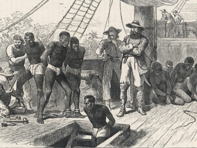 On board a slave ship c1830.