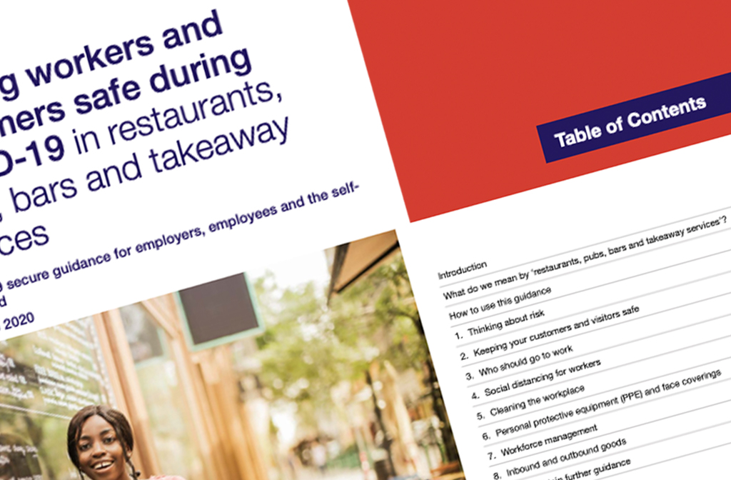 Keeping workers and customers safe 4 July guidance front cover