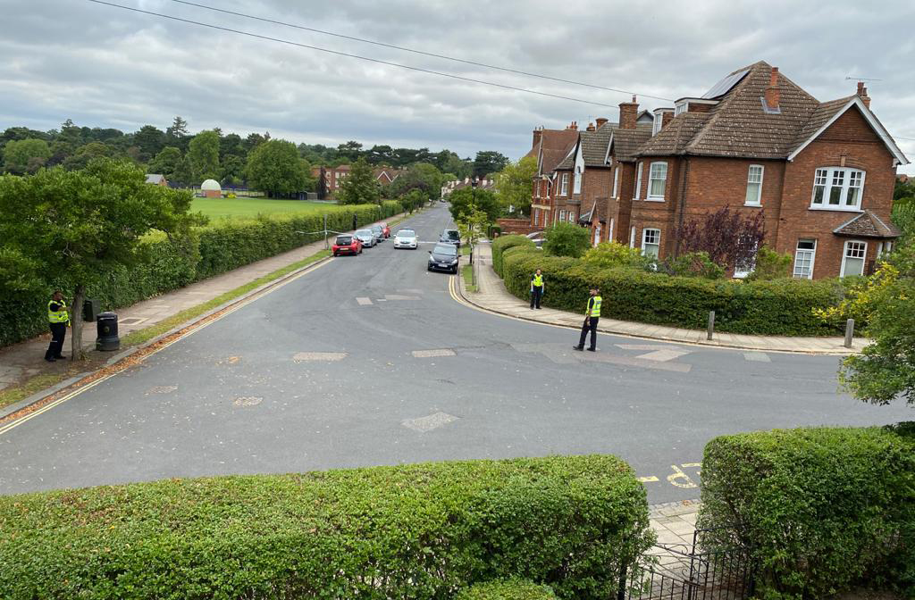 Police search for evidence on St Andrews Road. Image: Reader Photo