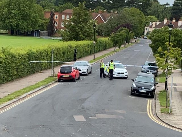 Police have closed St Andrews Road while they gather evidence. Image: Reader Photo