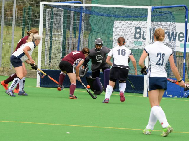 Kate Costin coming in to score the opening goal