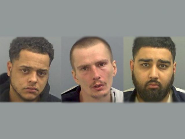 County Lines members jailed (l-r Louis Gerrard, Louis Chadworth, Arjun Singh)