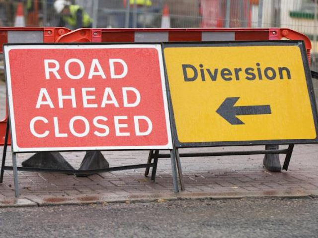 Road closed diversion