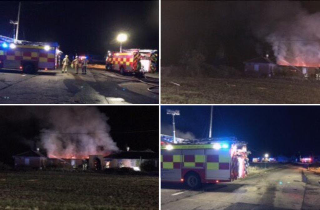Stewartby Brickworks fire Oct 2020